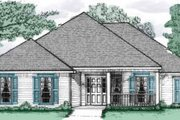 Traditional Style House Plan - 3 Beds 2 Baths 1721 Sq/Ft Plan #37-146 Exterior - Front Elevation