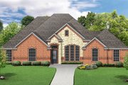 European Style House Plan - 4 Beds 3 Baths 2396 Sq/Ft Plan #84-629 Exterior - Front Elevation