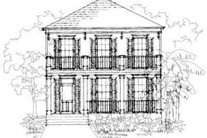 Southern Exterior - Front Elevation Plan #325-103