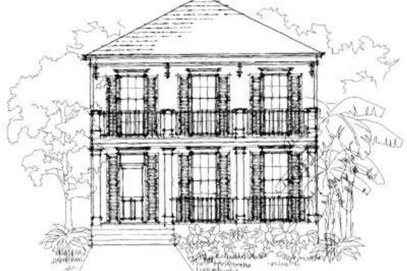 Southern Style House Plan - 3 Beds 2.5 Baths 1942 Sq/Ft Plan #325-103 Exterior - Front Elevation