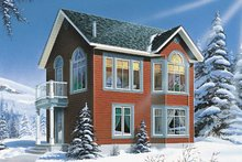 Cottage Exterior - Front Elevation Plan #23-2169