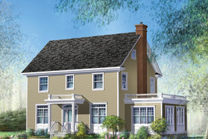 Colonial Exterior - Front Elevation Plan #25-4679