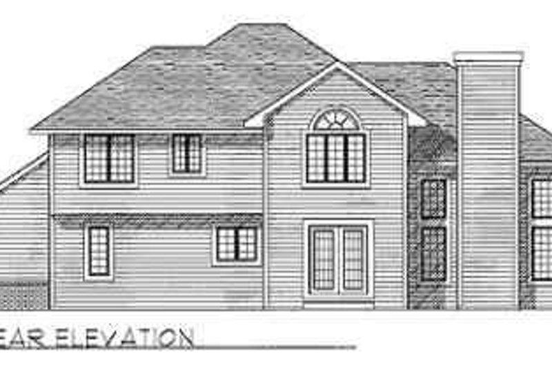 Traditional Exterior - Rear Elevation Plan #70-333 - Houseplans.com