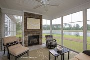 Ranch Style House Plan - 4 Beds 3 Baths 2494 Sq/Ft Plan #929-1005 Exterior - Covered Porch
