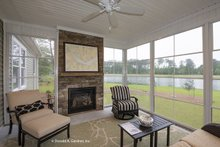 Architectural House Design - Ranch Exterior - Covered Porch Plan #929-1005