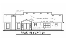 Architectural House Design - Ranch Exterior - Rear Elevation Plan #20-125