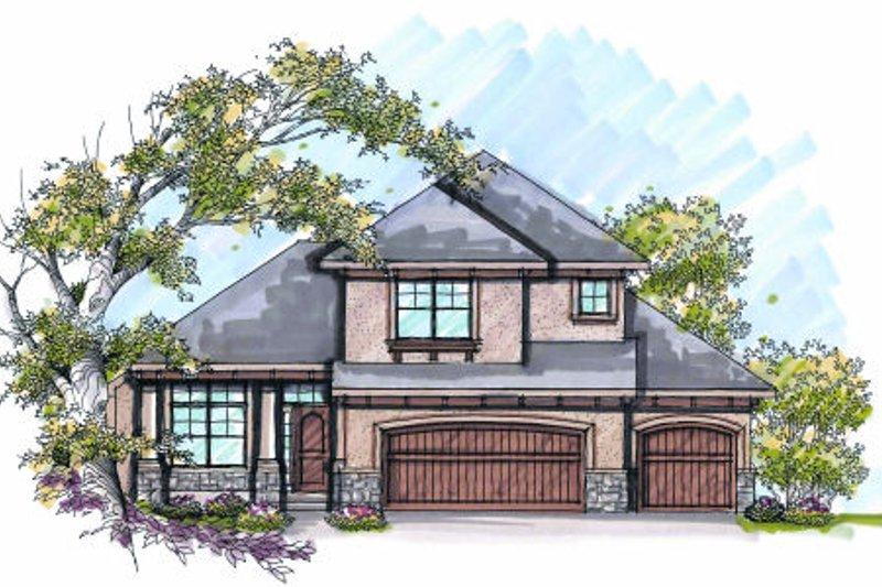 Home Plan - Bungalow Exterior - Front Elevation Plan #70-973