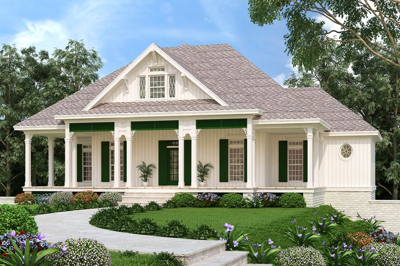 Ranch Exterior - Front Elevation Plan #45-579