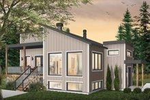Architectural House Design - Modern Exterior - Front Elevation Plan #23-2672