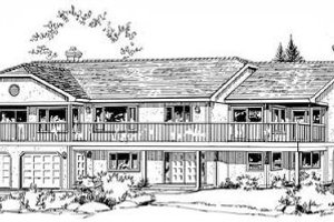 Traditional Exterior - Front Elevation Plan #18-9008