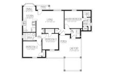 Ranch Floor Plan - Main Floor Plan Plan #1061-27