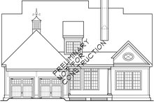 House Plan Design - Craftsman Exterior - Rear Elevation Plan #927-526