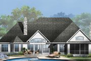 Country Style House Plan - 4 Beds 3 Baths 3140 Sq/Ft Plan #929-955 Exterior - Rear Elevation