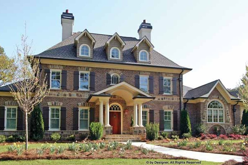 European Exterior - Front Elevation Plan #54-343 - Houseplans.com