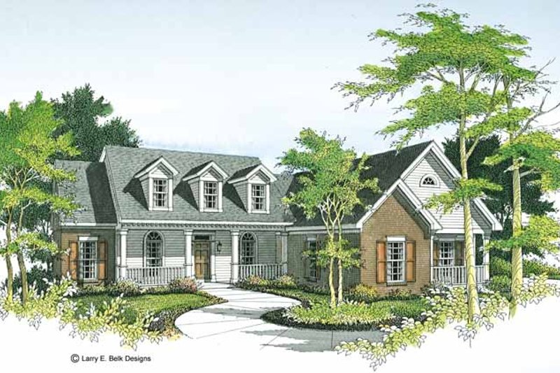Country Exterior - Front Elevation Plan #952-68