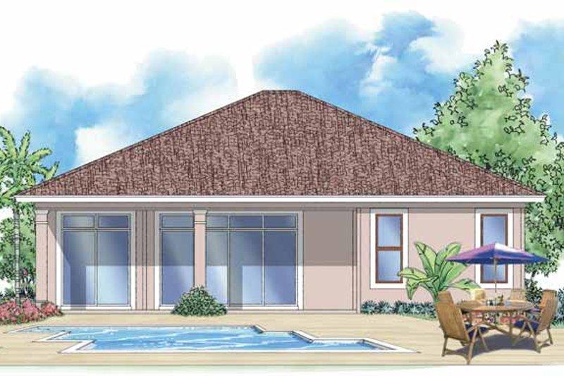 Mediterranean Exterior - Rear Elevation Plan #930-385 - Houseplans.com