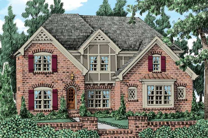 Tudor Exterior - Front Elevation Plan #927-437 - Houseplans.com