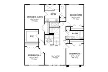 Mediterranean Floor Plan - Upper Floor Plan Plan #1058-61