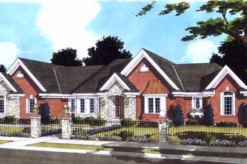 Country Exterior - Front Elevation Plan #46-813 - Houseplans.com
