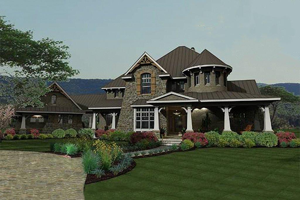 Craftsman Exterior Front Elevation Plan 120 173