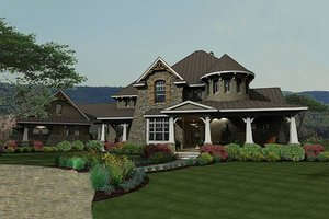 Craftsman Exterior - Front Elevation Plan #120-173