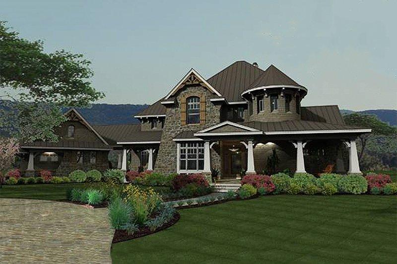 Craftsman Exterior - Front Elevation Plan #120-173