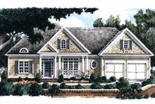 House Plan Design - Country Exterior - Front Elevation Plan #927-722