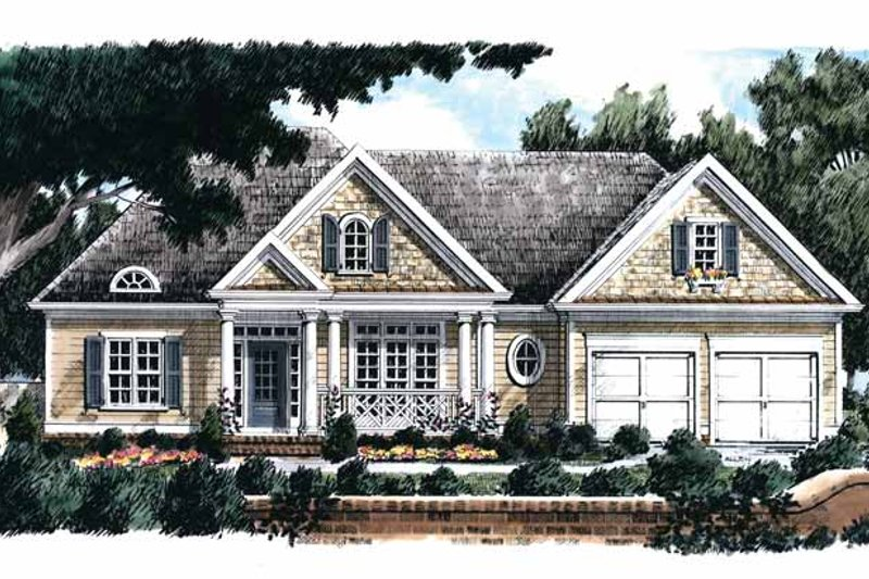 Country Exterior - Front Elevation Plan #927-722