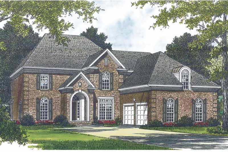 Traditional Exterior - Front Elevation Plan #453-567 - Houseplans.com