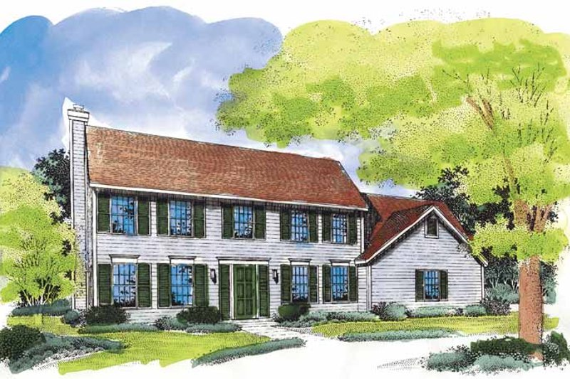 Classical Exterior - Front Elevation Plan #320-522