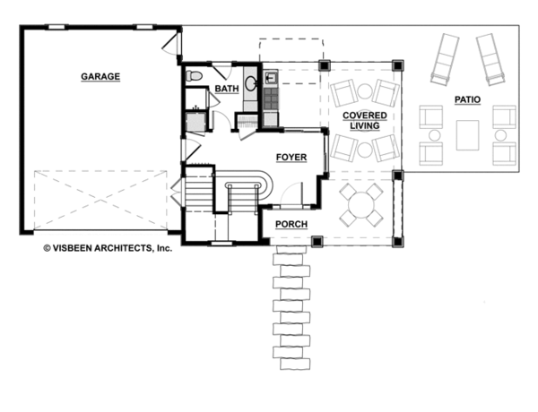 Contemporary Floor Plan - Main Floor Plan Plan #928-270