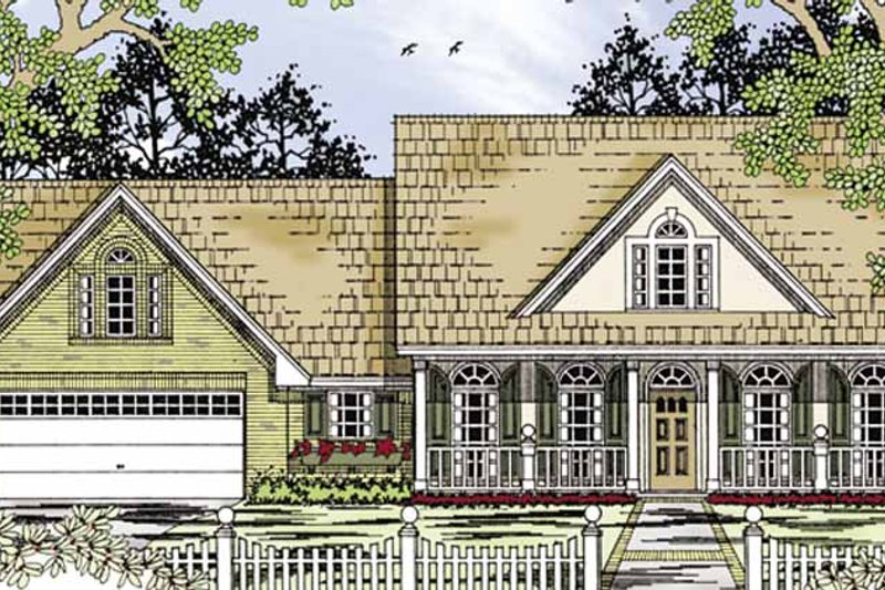 Architectural House Design - Country Exterior - Front Elevation Plan #42-699