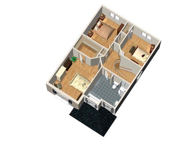 Traditional Floor Plan - Upper Floor Plan Plan #25-4473