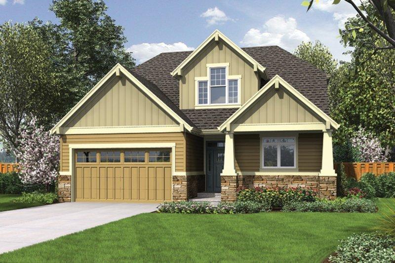 Craftsman Exterior - Front Elevation Plan #48-901