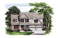 Home Plan - Colonial Exterior - Front Elevation Plan #927-750