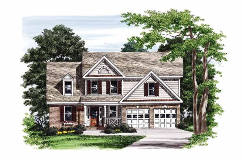 Colonial Exterior - Front Elevation Plan #927-750