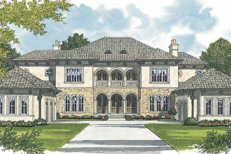 Mediterranean Exterior - Front Elevation Plan #453-604