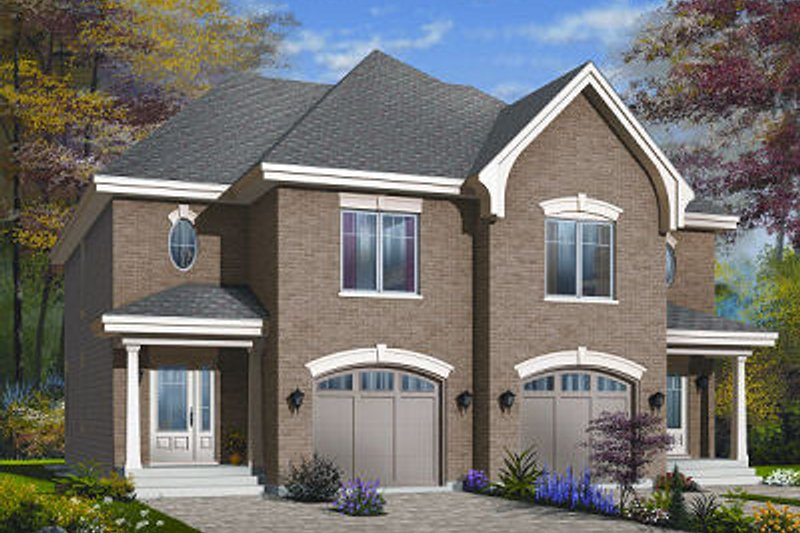 Dream House Plan - European Exterior - Front Elevation Plan #23-774