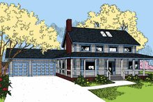 Ranch Exterior - Front Elevation Plan #60-1001
