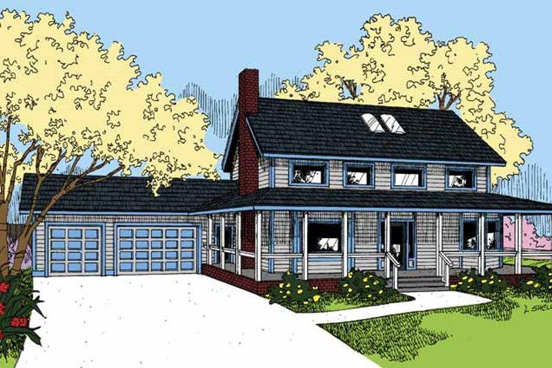 Ranch Exterior - Front Elevation Plan #60-1001 - Houseplans.com