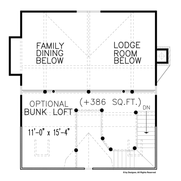 Architectural House Design - Craftsman Floor Plan - Other Floor Plan #54-372