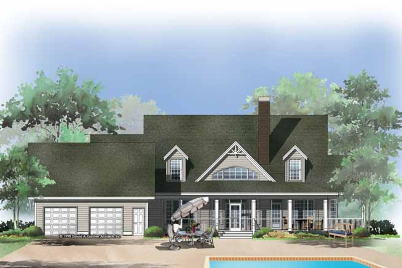 Craftsman Exterior - Rear Elevation Plan #929-399 - Houseplans.com