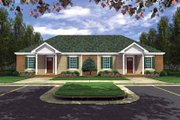 Southern Style House Plan - 2 Beds 2 Baths 1650 Sq/Ft Plan #21-184 Exterior - Front Elevation
