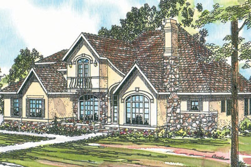 Exterior - Front Elevation Plan #124-266