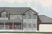 Traditional Style House Plan - 4 Beds 2.5 Baths 2098 Sq/Ft Plan #308-121 Exterior - Front Elevation