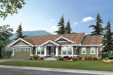 Architectural House Design - Craftsman Exterior - Front Elevation Plan #132-247