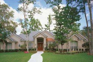 Dream House Plan - Mediterranean Exterior - Front Elevation Plan #417-556