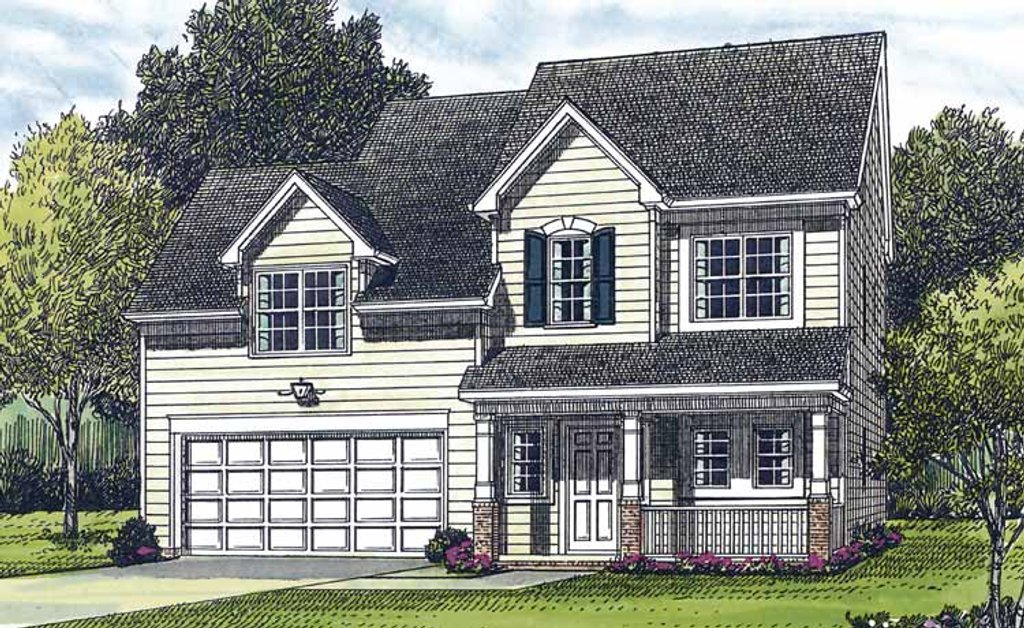 Country Style House Plan - 3 Beds 2.5 Baths 1530 Sq/Ft