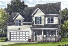 Architectural House Design - Country Exterior - Front Elevation Plan #453-287