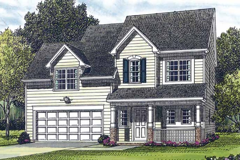 Country Exterior - Front Elevation Plan #453-287